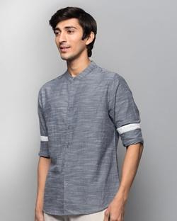 Nawab Spring Shirt - Navy