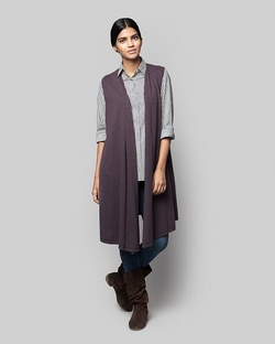 Victoria Sleeveless Wrap - Purple