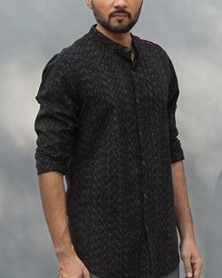 Ikat Varkala Shirt - Black