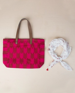 On-The-Go Tote & Scarf (Set of 2)