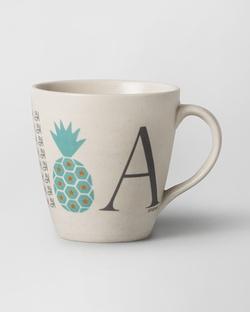 Alphabet A Mug - Stoneware