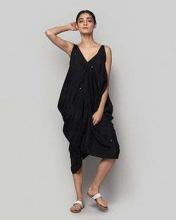 Silk Asymmetrical Dress