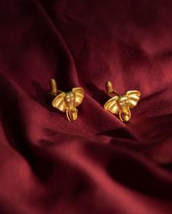 Haathi Cufflinks - Gold