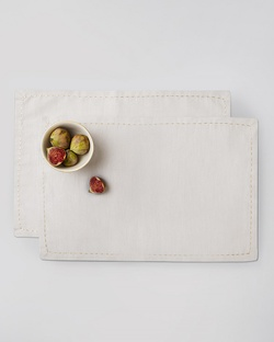 Fukuro Placemat (Set of 2) - Light Grey & Gold