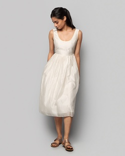 Ashwani Chanderi Dress - Ivory