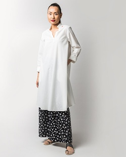 Greet The Sun Kurta - Ivory