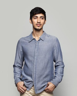 Kanchenjunga Shirt - Blue & Grey