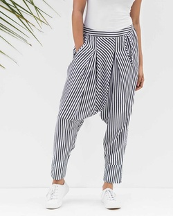 Drop Crotch Pants - Black & White