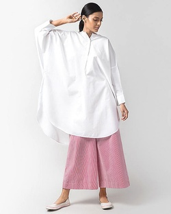 Lazy Sunday Tunic - White