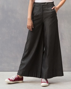 Denim Wide Leg Pant