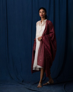 Horizon Dupatta - Red
