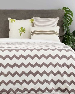 Alleppey Chevron King Duvet