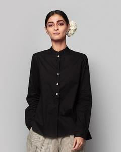 Adri Mandarin Top - Black