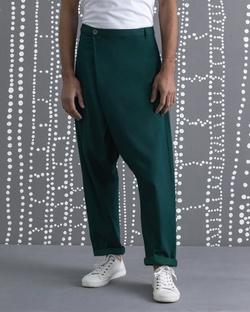 Slouchy Pants - Green