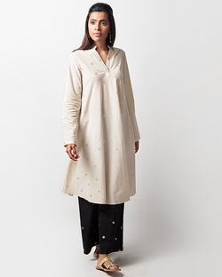 Greet The Sun Kurta - Taupe