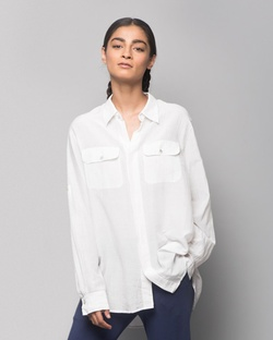 Ukiyo Cotton Silk Shirt - White