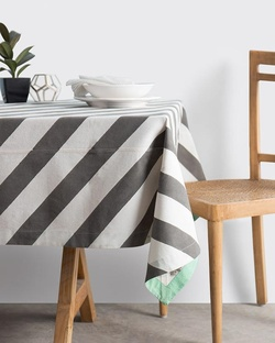 Verandah Candy Stripe Table Cloth Large