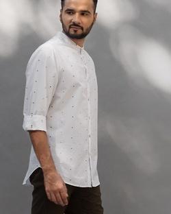 Nawab Shirt - Grey Dobby