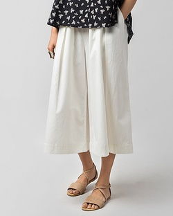 Double Pleat Culotte - Ivory