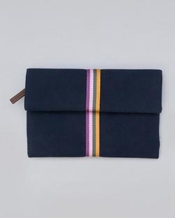 Fold Over Clutch - Navy