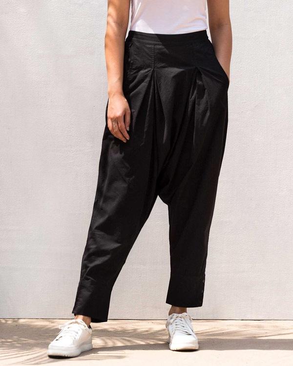 Drop Crotch Pants - Black