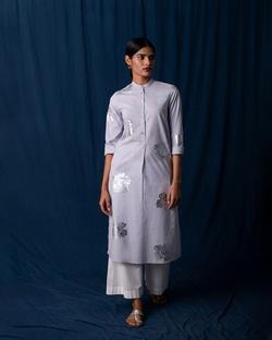 Full Sleeve Kurta - Grey