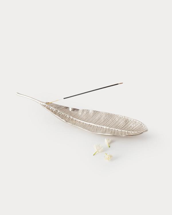 Frangi Leaf Incense Holder - Silver