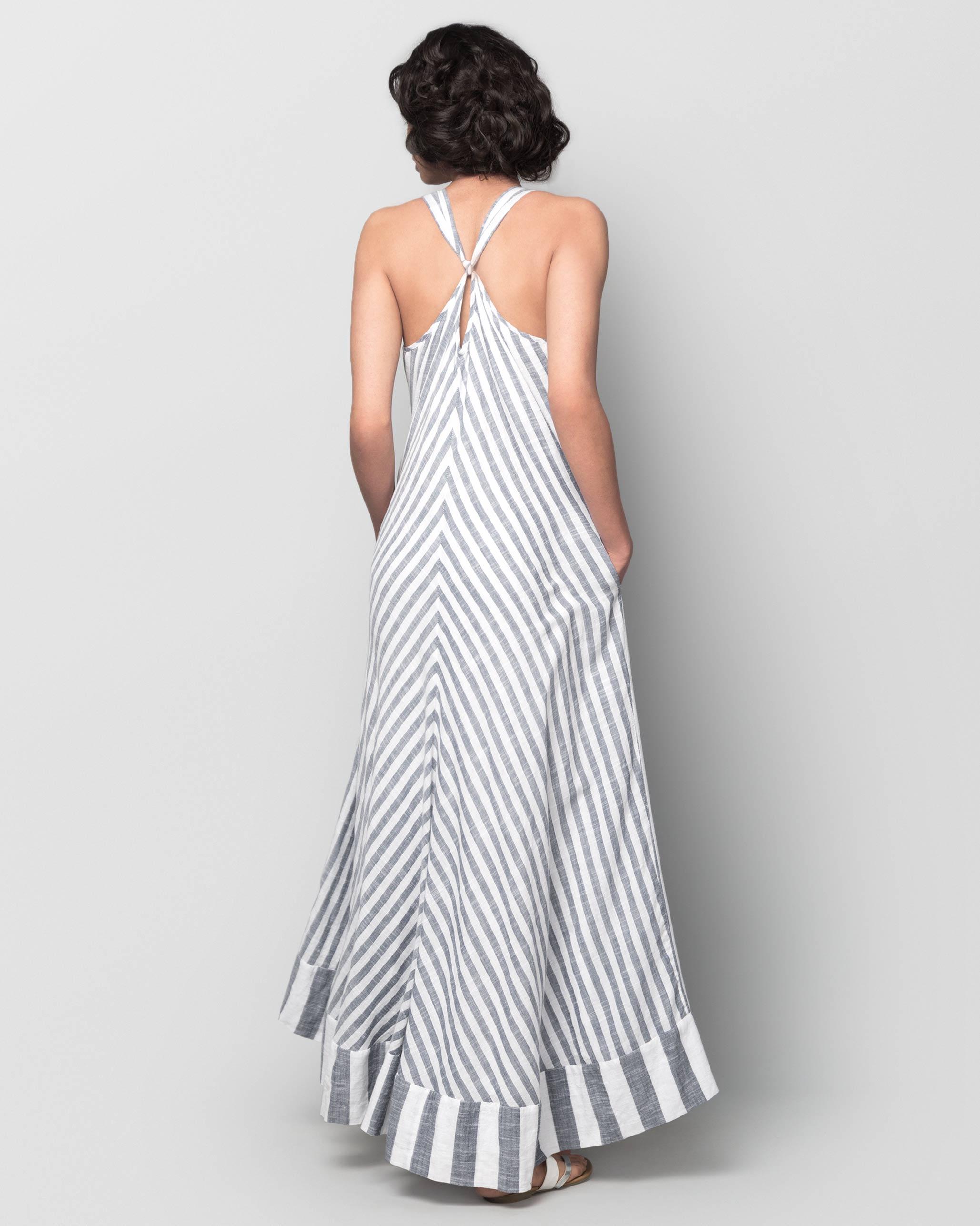 130d35efc0 Buy Akira Twist-back Stripe Dress Women Dresses & Overlays Online ...