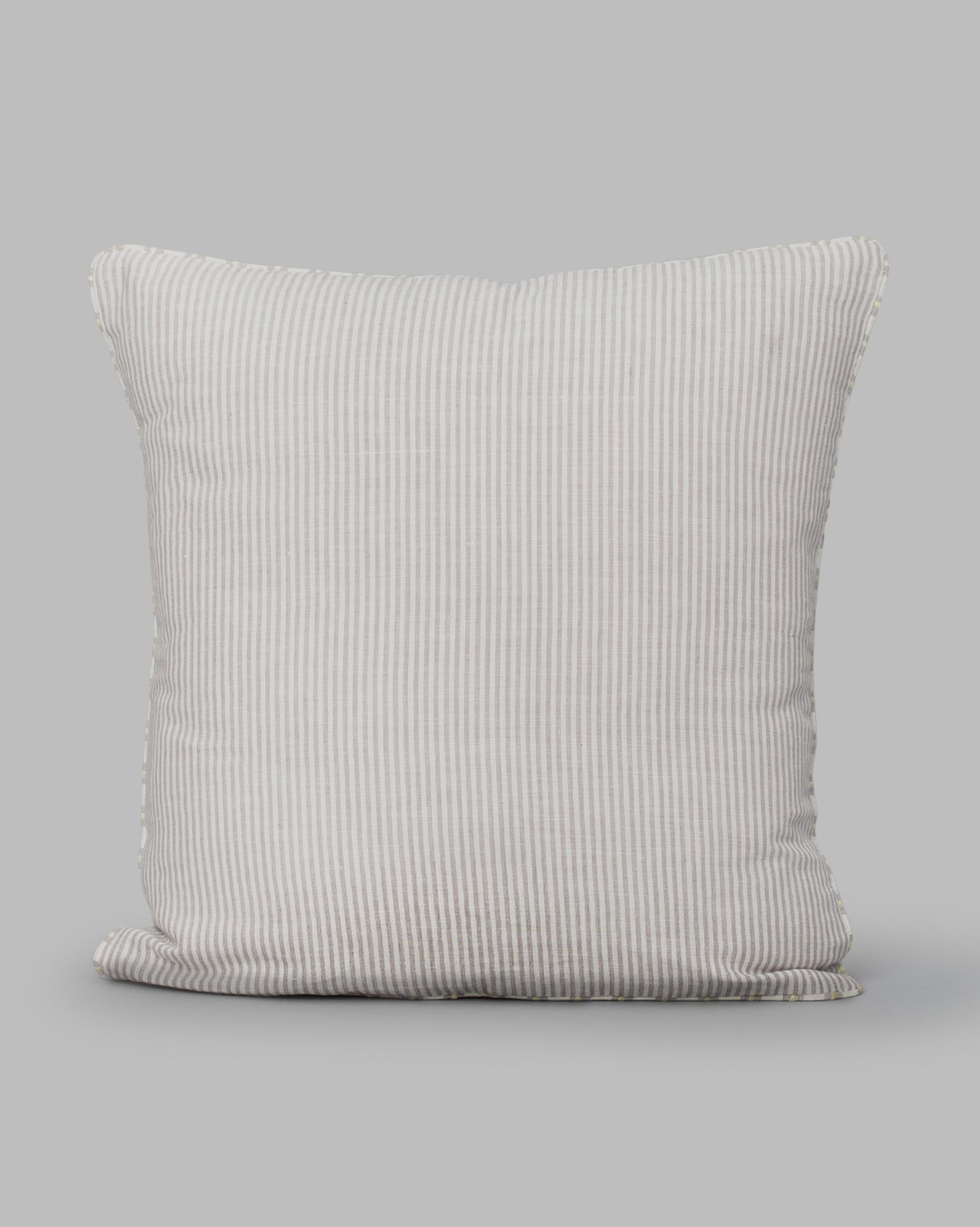 Buy Alleppey Khadi Stripes Cushion For Home House Online Nicobar