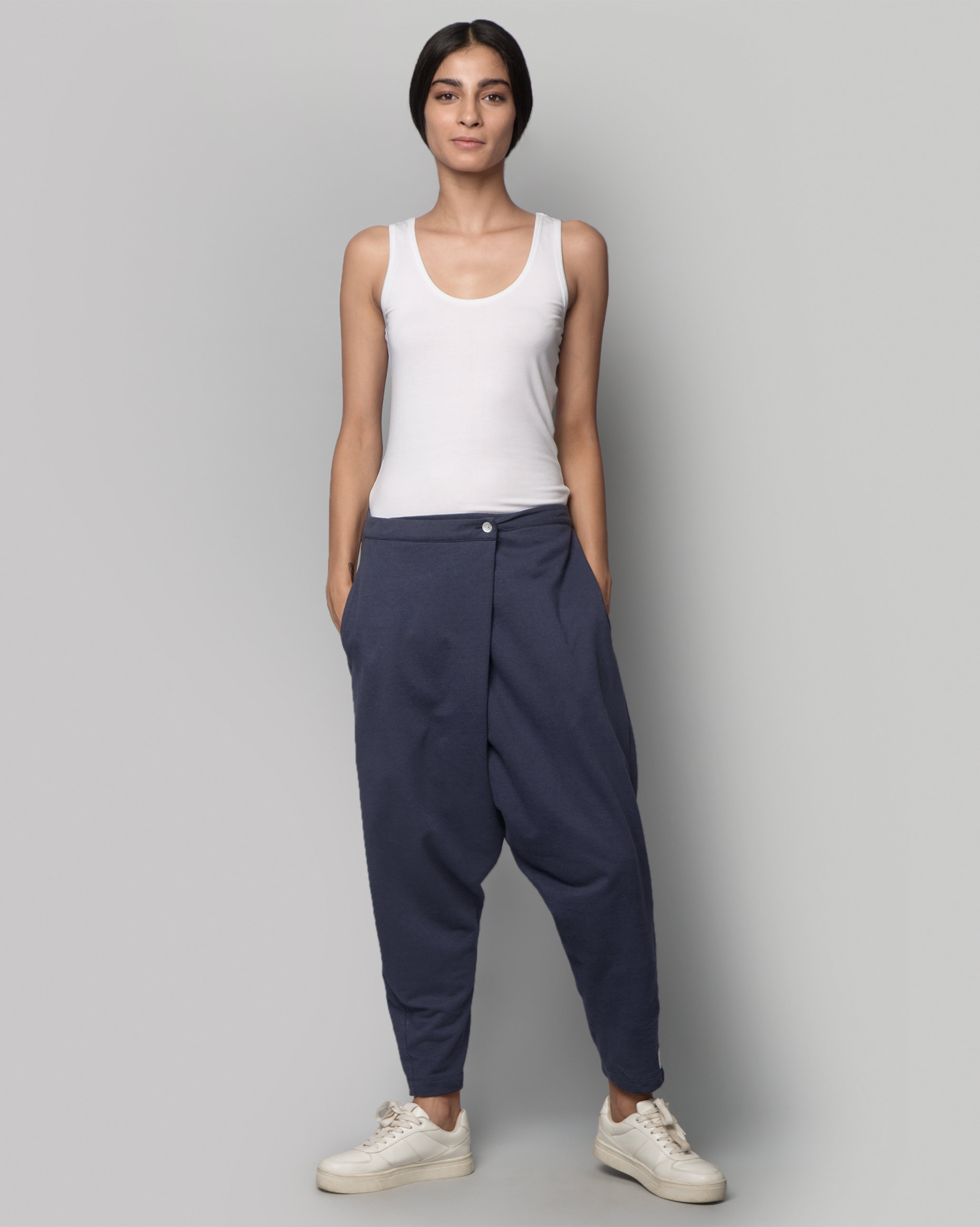 3f5184c3d6dd Jinan Slouchy Pants - Indigo from Travel collection at Nicobar