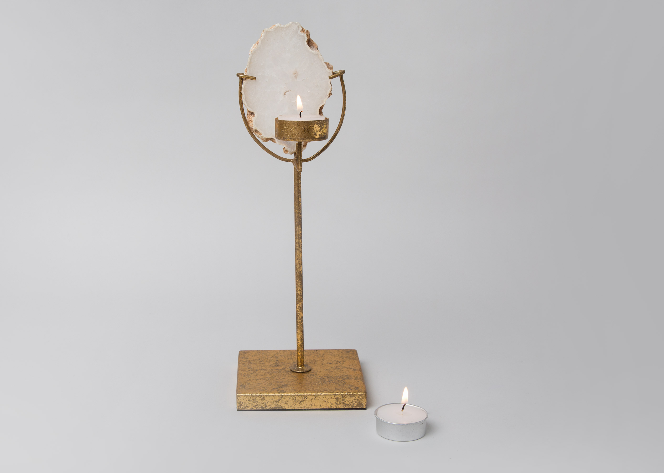 Agate Tea Light Holder Large For